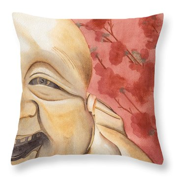 The Travelling Buddha Statue Throw Pillow by Ken Powers