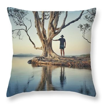 The Tree And Me Throw Pillow
