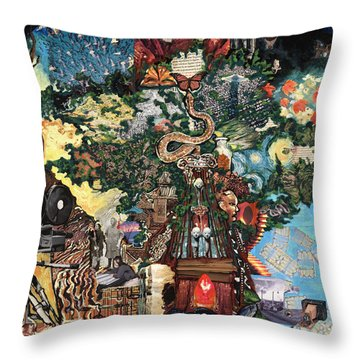 The Tree Throw Pillow by Emily McLaughlin
