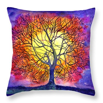 The Tree Of New Life Throw Pillow