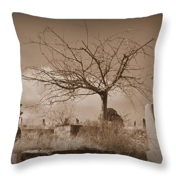 The Tree On Boot Hill  Throw Pillow