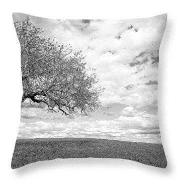 The Tree On The Hill Throw Pillow