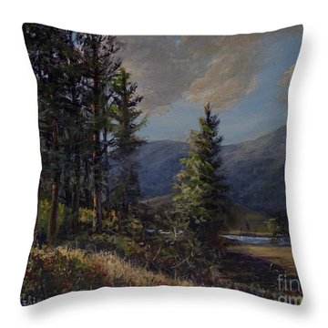 The Triangle C Throw Pillow