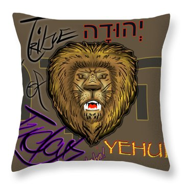 The Tribe Of Judah Hebrew Throw Pillow