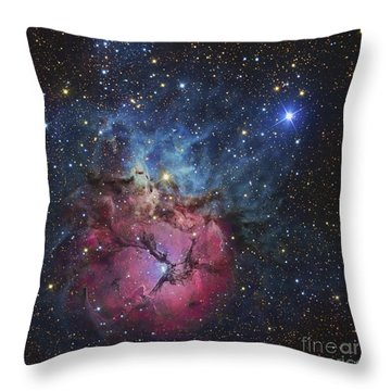 The Trifid Nebula Throw Pillow by R Jay GaBany