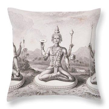 The Trimurti Or Hindu Trinity Throw Pillow