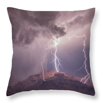 The Triplets Throw Pillow