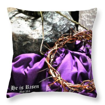 The Triumphant Crown Throw Pillow