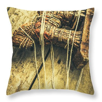 The Trojan Horse And Fall Of Troy Throw Pillow