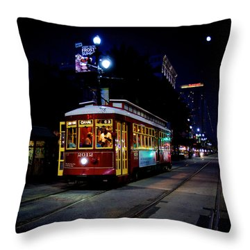 Throw Pillow featuring the photograph The Trolley by Evgeny Vasenev