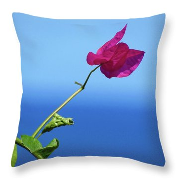 The Tropical Bloom Throw Pillow
