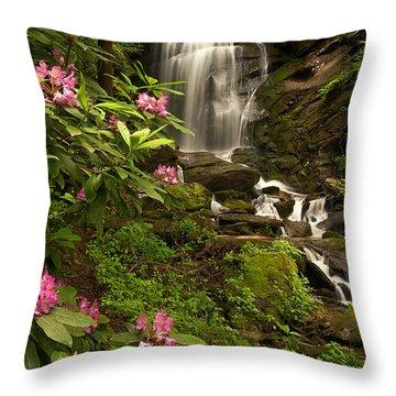 The Tropics Of North Carolina Throw Pillow