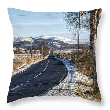 The Trossachs National Park In Scotland Throw Pillow