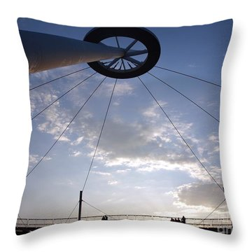 Throw Pillow featuring the photograph The True Light Pier In Southern Taiwan by Yali Shi