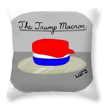 The Trump Macron Throw Pillow