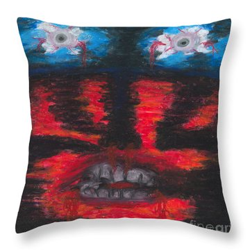Throw Pillow featuring the painting The Truth by Ania M Milo