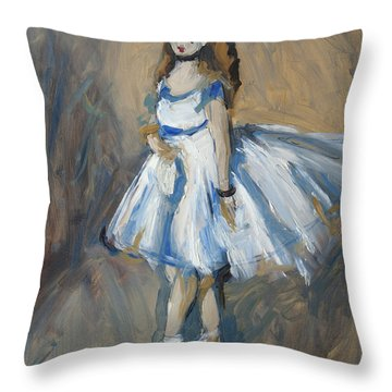 The Truth Lies Between Aguste Renoir And Marlene Dumas Throw Pillow