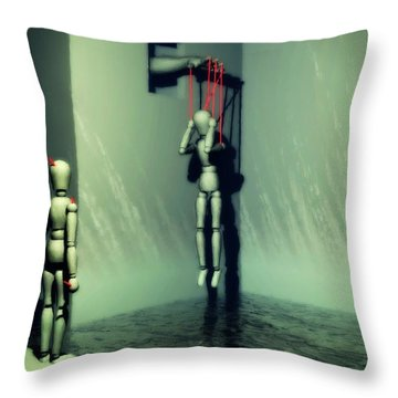 The Truthsayer Meets Denial Throw Pillow