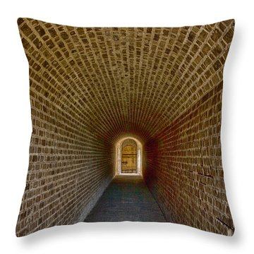 Throw Pillow featuring the photograph The Tunnels Of Fort Clinch by Paula Porterfield-Izzo