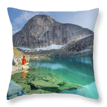 The Turquoise Lake Throw Pillow