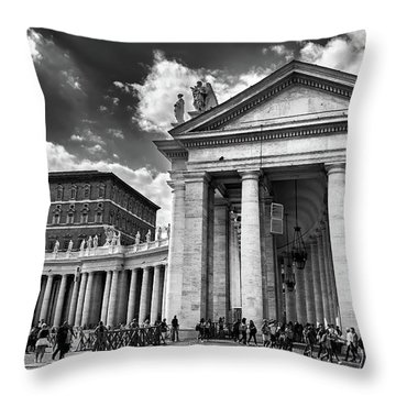 The Tuscan Colonnades In The Vatican Throw Pillow