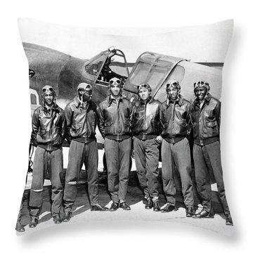 The Tuskegee Airmen Circa 1943 Throw Pillow