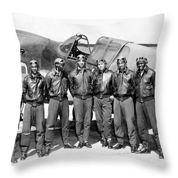 The Tuskegee Airmen Circa 1943 Throw Pillow