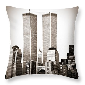 The Twin Towers Throw Pillow