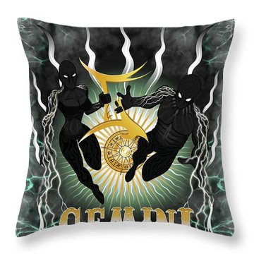 The Twins Gemini Spirits Throw Pillow
