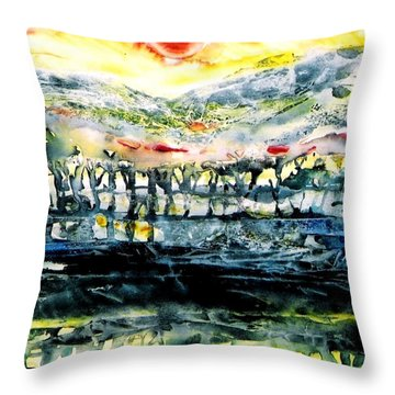 Throw Pillow featuring the painting The Twisted Reach Of Crazy Sorrow by Trudi Doyle
