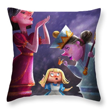 The Two Queens, Nursery Art Throw Pillow