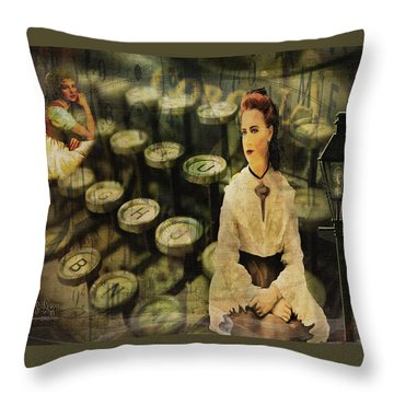 The Typist Throw Pillow