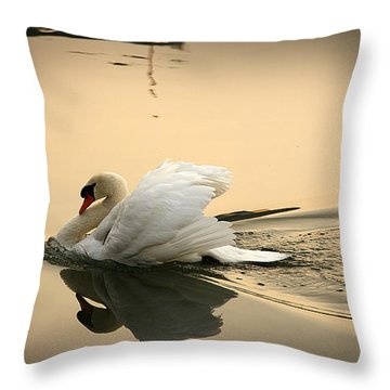 The Ugly Duckling Throw Pillow