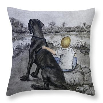 The Ultimate Best Friend Throw Pillow by Kelly Mills