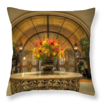 The Uncentered Centerpiece Throw Pillow