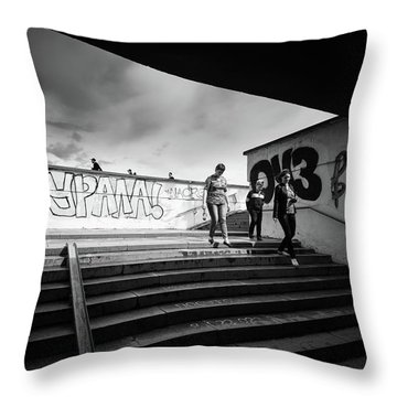 The Underpass Throw Pillow
