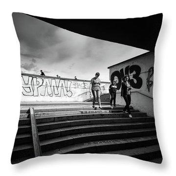 The Underpass Throw Pillow