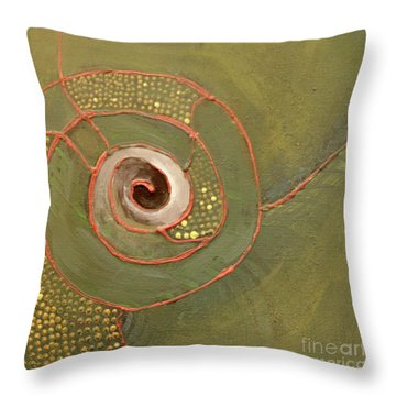 The Undertow Throw Pillow by Maura Satchell