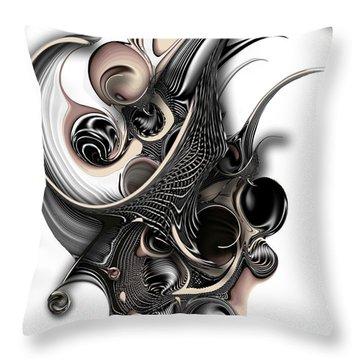 Throw Pillow featuring the digital art The Unfolding Purity by Carmen Fine Art