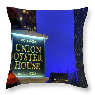 Throw Pillow featuring the photograph The Union Oyster House - Boston by Joann Vitali