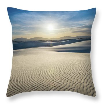 The Unique And Beautiful White Sands National Monument In New Me Throw Pillow