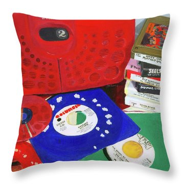 Throw Pillow featuring the painting The Universal Language by Lynne Reichhart