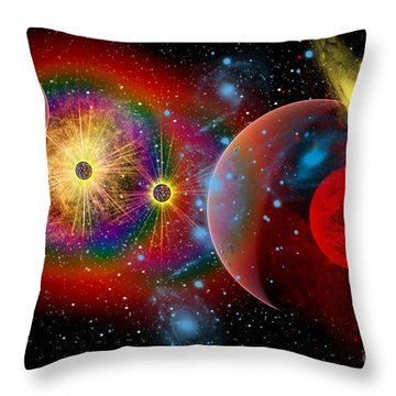The Universe In A Perpetual State Throw Pillow by Mark Stevenson