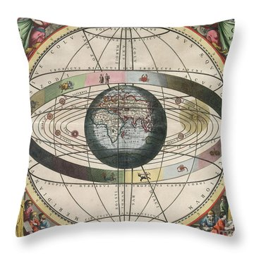 The Universe Of Ptolemy Harmonia Throw Pillow by Science Source