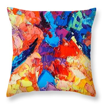 Throw Pillow featuring the painting The Unknown by Ana Maria Edulescu