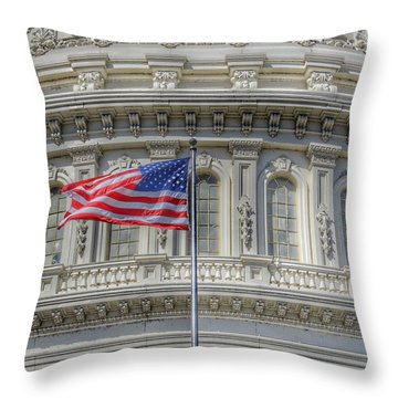 The Us Capitol Building - Washington D.c. Throw Pillow