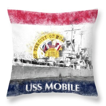 The Uss Mobile Throw Pillow