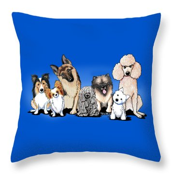 The Usual Suspects 3 Throw Pillow by Kim Niles