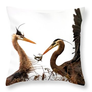 The Valentine's Gift Throw Pillow by Cyndy Doty