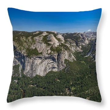 The Valley And Four Falls Throw Pillow